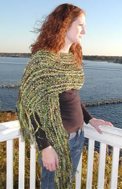 Green Ribbon Shawl